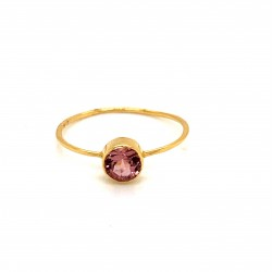 k14 gold ring with Turmaline