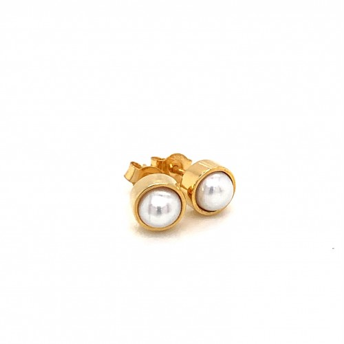 K14 gold earrings with fresh water pearl